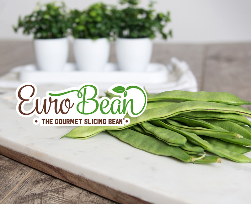 Euro Beans on cutting board