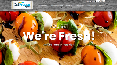 Website Home Page, showing tomato recipe