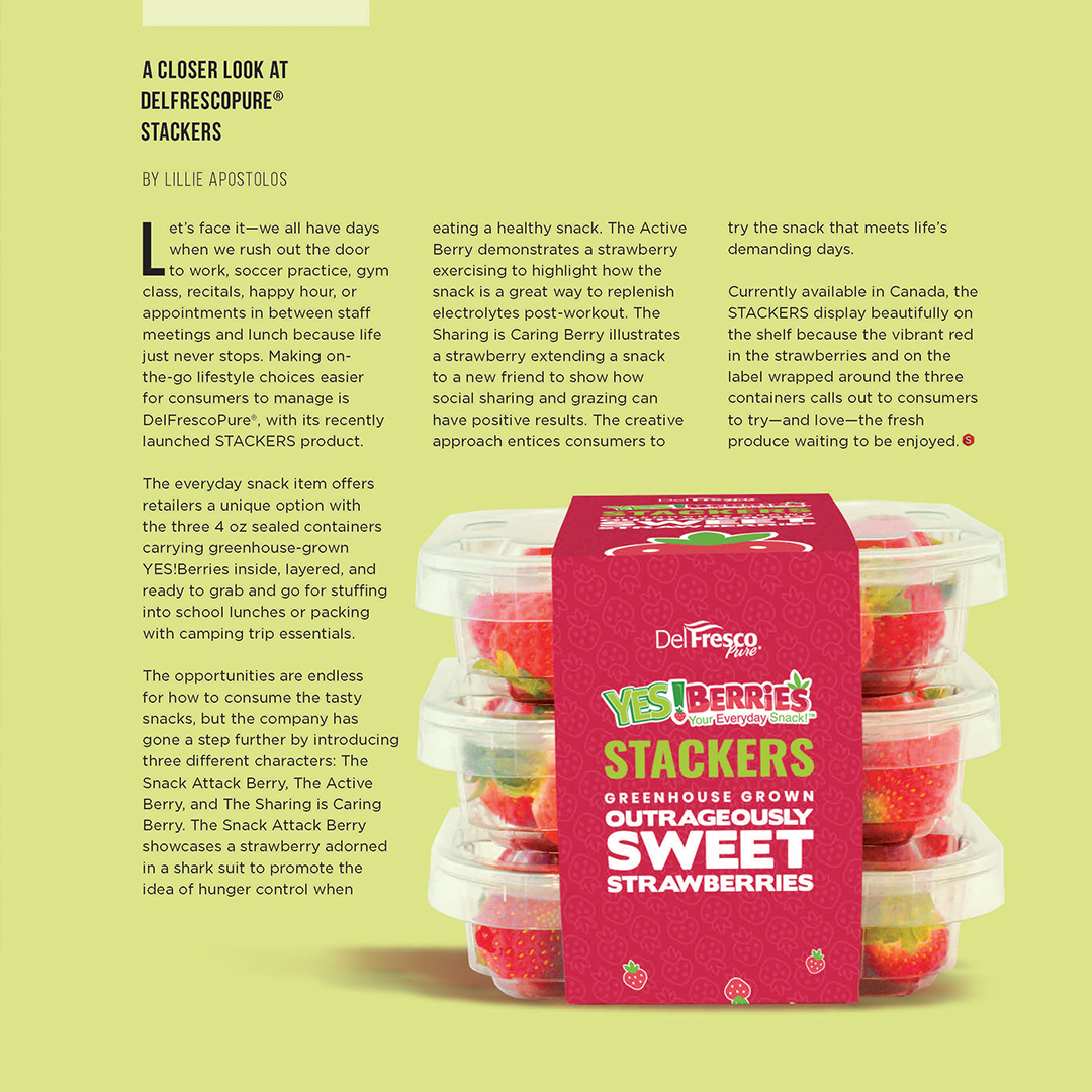 YES!Berries Featured in 'The SNACK'