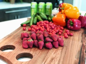 YES!Berries on a cutting board