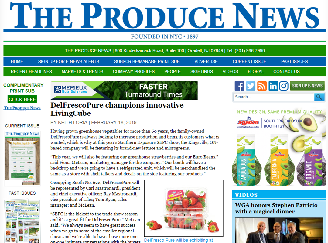 'The Produce News' Article