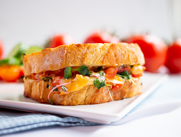 Bruschetta Grilled Cheese Sandwich